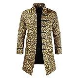 YJNH Herren Jacke Frack Steampunk Gothic Gehrock Uniform Cosplay Kostüm Smoking Mantel Retro...