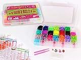 XXL 5800 Loom Set Bands Gummibänder Starter Box Bunt Gemischt mit Webhaken und Charms Anhänger...