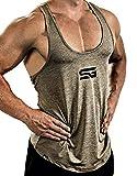 Satire Gym Fitness Stringer Herren - Funktionelle Sport Bekleidung - Geeignet Für Workout, Training...