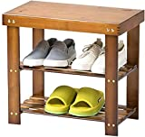 Rack Bambus Zweistöckiges Schuhregal Startseite Entryway Schuhregal Simple Storage for...