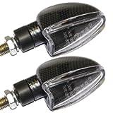 Ryde Motorrad-Blinker mit kurzer Halterung - fr Standard-Glhbirnen - Carbon-Optik