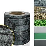 Sichtschutzstreifen PVC | Sichtschutzfolie Gartenzaun oder Balkon | inkl. 20 Befestigungsclips |...