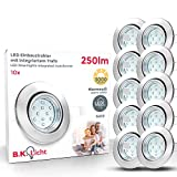 LED Einbaustrahler Schwenkbar Inkl. 10 x 3W Leuchtmittel 230V GU10 IP23 LED Deckenstrahler...