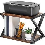 HE-XSHDTT Druckerständer mit 2-lagigem Holzregal Multifunktions-Schreibtischfaxgerät...