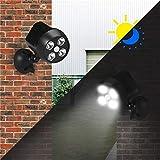 Solar-Gartenleuchten Outdoor, Solarsicherheits-Lic Wasserdicht solarbetriebene PIR...