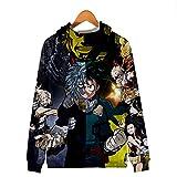 CCDLM Mein Held Academia Mantel,3D Druck Midoriya Izuku Cosplay Kostüm Reißverschluss Sweatshirt...