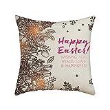 ODRD Frohe Ostern Kissenbezüge | Happy Easter Carnival Day Lily Flower Festive Atmospher | Kissen...
