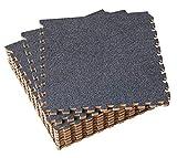 UMI. Essentials 30 x 30cm ineinandergreifende Bodenmatten aus Schaumstoff (Set von 9) (Dunkelgrau)