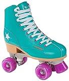 Hudora Disco Rollerskates Unisex Rollschuh, Grün/Lila, 35, 13181