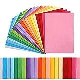 Kesote 100x Seidenpapier 20 Farbe Bunt Papier Bastelpapier Transparent Geschenkpapier zum Basteln...
