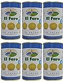 El Faro - Spanischen Oliven mit Sardellen gefllt 350 gr. Abgetropft Menge 150 gr. - [Pack 6]