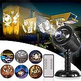 LLZI LED Projektionslampe, Wasserdichte Innen Und Außen Mit Fernsteuerung, 3D Effektlicht...