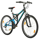 Bikesport Fahrrad MTB Mountainbike Fully Full Suspension 26 Zoll Parallax Shimano 18 Gang (Schwarz...
