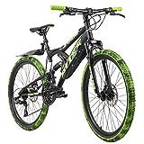 KS Cycling Mountainbike Fully 24'' Bliss schwarz-grün RH 38 cm
