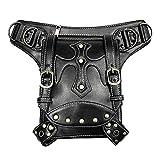 Bumbags fr Frauen Motorrad Tasche Steampunk Tasche PU Leder Handtasche Taille Pack Vintage Punk fr...