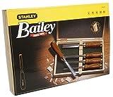 Stanley Bailey Stechbeitel Set 5-teilig (6/10/15/20/25 mm Beitelbreite, gehärteter Stahl,...