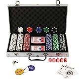 Display4top Pokerkoffer 300 Chips Laser Pokerchips Poker 12 Gramm , 2 Karten, Hndler, Small Blind,...