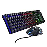 YYKJ Gaming-Tastatur und Maus verdrahtete Backlit Mechanische Beleuchtete Tastatur Gamer Kit 3200DPI...