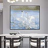 GUUTOP Leinwand Gemälde DIY Digitale Ölpresse Digitale Tier weiße Gans Bild Handzeichnung...