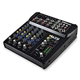 ALTO ZMX862 Professionelle Kompaktes 6-Kanal Mischpult mit 3 Band EQ und 48V Phantom Power