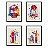 Nacnic Star Wars Poster Set | Star Wars Bilder in Aquarell-Art-Wand-Dekor-Kunst | Set von 4...