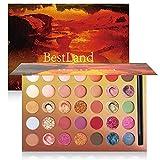 35 Farben Lidschatten Palette Bunt Nudetöne Regenbogen Colour Board Schminkpalette Set Matt...