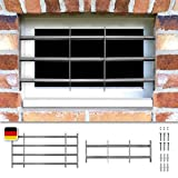 Fenstergitter Sicherheitsgitter Venlo ausziehbar in 6 Größen 300x700-1050 mm