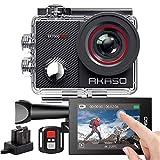 AKASO Action Cam 4K 16MP WiFi 40M Unterwasserkamera Wasserdicht Ultra HD Touchscreen Einstellbar...