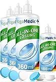 PREMIUM Kontaktlinsen Fluessigkeit für weiche Linsen, bester Tragekomfort dank Panthenol, Made in...