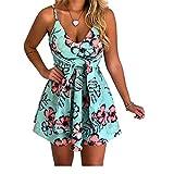 Sommer Damen Sexy Fashion V-Ausschnitt äRmelloses Printed Kleid Mit Sling