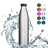 720°DGREE Edelstahl Trinkflasche milkyBottle- 500ml, 0,5 l - Isolierflasche Schmal - Thermosflasche...