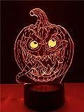 Halloween Dekorative Kürbis 3D Lampe Beleuchtung LED USB Stimmung Nachtlicht Multicolor Luminaria...