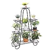 unho Blumentreppe mit 9 Ablagen Blumenständer Blumenregal Metall für innen und außen Balkon...