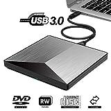 Rwen Externes Laufwerk, Externe CD-DVD-Laufwerk, RW-Laufwerk DVD-Brenner Brenner, USB 3.0 & Type C...