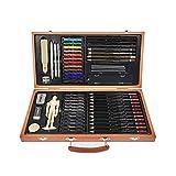FLOWood 58 Stück Bleistift Zeichnen Set, Skizzierstifte Set und Zeichnen Professionelle Art Set mit...