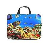 Blauer Ozean Fisch Volldruck Laptoptasche Schutzhlle Wasserdichtem Neopren Laptop Tasche Hlle Mode...