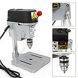 Tischbohrmaschine HaroldDol Ständerbohrmaschine tragbar mini Tisch Bohrer mit Bohrfutter und 2...