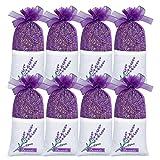 SCENTORINI 8x30g Lavendelsäckchen, Lavendel Duftsäckchen für Kleiderschrank mit französischen...