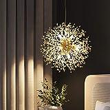 Dellemade Sputnik Kronleuchter 8-Licht Golden Luxuriöse Pendelleuchte für Schlafzimmer,...