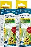 Klosterfrau Hämorrhoiden Salbe, Doppelpackung 2 x 30 g Tuben mit Hamamelis zur akuten Behandlung...