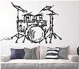 fancjj Silhouette Fototapete Zuhause Wohnzimmer Mode Dekor Musik Wand WallpaperQ 42x46cm...