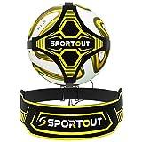 Sportout Fußball Kick Trainer, Freihändiger Solo Fußball Trainer Fußballtrainingshilfe mit...