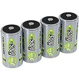 ANSMANN Akku D 5000 mAh NiMH 1,2 V (4 Stück) - Mono D Batterien wiederaufladbar, maxE geringe...