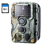 Crenova 4K 20 MP Wildkamera mit 32 GB SD-Karte 47pcs-940nm-IR-LEDs für 20m Nachtsicht und IP66...