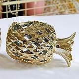 HUANHUAN Dekoration Keramik hohl Golden Ananas Laterne Kerzenhalter Ornamente Home Dekoration...
