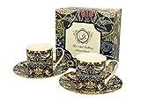 Duo Kollektion Art Gallery by William Morris EIN Satz von 2 Espresso Tassen mit Untertassen...