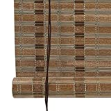 LY88 Bambusrollo für Vorhang, Rollläden, Sonnenschutz, 85% Lichtfilterung, breite Bambusleisten,...