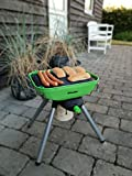 Multi Grill Deluxe Balkon Terrasse Park mobiler Party Gas-Grill Tischgrill mit Fettauffang und...