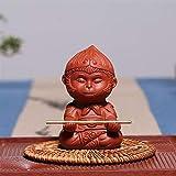 XIEWEICHAO Tee Haustier Ornamente Tierzeichen AFFE AFFE AFFE Spielen Tee Geschenk (Size : Clear...