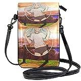 XCNGG Kleine Crossbody Coin Purse Scenery Anime-Spiel Cute GirlPhonepurse für Frauen Taschen Leder...